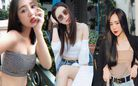 """Quỳnh Kool quyến rũ với phong cách """"nửa kín nửa hở"""" khi diện áo bra cùng sơ mi xuống phố"""
