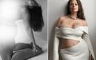 Siêu mẫu ngoại cỡ không ngại chụp ảnh nude khi mang bầu, sau sinh khoe body nóng bỏng
