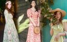 Mỹ nhân Việt khéo chọn phụ kiện khi diện váy hoa