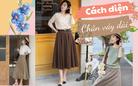 9 cách diện chân váy dài đẹp xinh mùa Thu