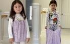 Siêu mẫu Như Vân tái chế váy cũ may đồ cho con