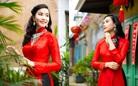 Họa sĩ, diễn viên Lương Giang - Xúng xính áo dài đỏ