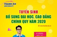 ĐH Thành Đô thông báo xét tuyển bổ sung Đại học, Cao đẳng chính quy năm 2020