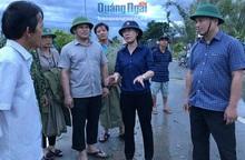 Quảng Ngãi: Bí thư Tỉnh ủy Bùi Thị Quỳnh Vân kiểm tra công tác khắc phục bão số 9