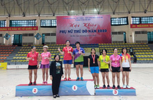 """Hơn 200 vận động viên nữ không chuyên hăng hái tham gia """"Hội khỏe Phụ nữ Thủ đô"""""""