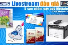 11h30 ngày 4/12: Livestream đấu giá 5 sản phẩm gây quỹ Mottainai 2020