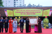 Lễ đón nhận Bằng di tích Quốc gia đặc biệt đền-chùa-đình Hai Bà Trưng