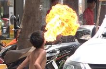 TPHCM: Băn khoăn trước nội dung phản hồi của UBND quận 4 về trẻ em phun lửa xin tiền