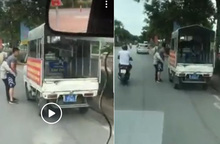 Hà Nội: Đi xe gắn chữ cảnh sát, mặc quần đùi, áo phông thu đồ của phụ nữ bán dạo