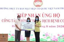 Vinamilk ủng hộ 8 tỷ đồng cho Hà Nội và các tỉnh miền Trung chống dịch Covid-19