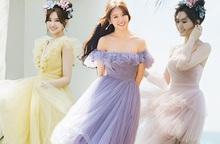 Mải ngắm Hari Won diện váy đầm màu pastel, không ai ngờ cô đã chạm ngưỡng 35