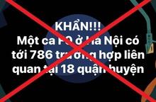 Hà Nội: Huyện Chương Mỹ bác bỏ thông tin 786 người liên quan đến 1 ca F0
