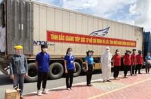 Hơn 100 tấn nông sản từ Bắc Giang ủng hộ TPHCM chống dịch