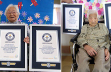 2 cụ bà Nhật Bản lập kỷ lục cặp song sinh sống lâu nhất thế giới