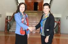Chia sẻ, thông tin về hoạt động Hội và phong trào phụ nữ hai nước Việt - Trung