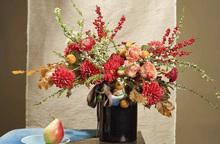 Bí quyết cắm hoa thược dược đón Tết không kém gì hoa ngoại nhập