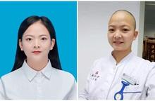 Nữ y tá cạo trọc đầu để tham gia chống dịch do virus corona