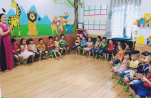 Mở trường mầm non giúp công nhân yên tâm gửi con