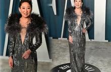 Minh tinh Hollywood Sandra Oh xuất hiện với váy của NTK Công Trí trên thảm đỏ