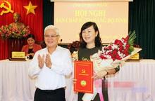 Nguyên Chủ tịch Hội LHPN Bình Phước giữ chức vụ Phó Bí thư Thường trực Tỉnh ủy