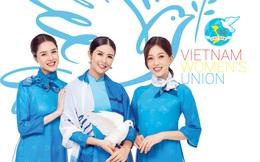 Hoa hậu Ngọc Hân cùng các Á hậu diện áo dài thể hiện tinh thần thời đại của Hội LHPN Việt Nam
