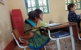 Chủ tịch xã lên tiếng về bức ảnh bé gái 7 tuổi phải địu em khi học ở trường