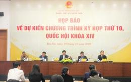 Kỳ họp thứ 10, Quốc hội khóa XIV khai mạc ngày 20/10, kéo dài 19 ngày