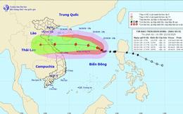 Bão số 8 đang hướng vào khu vực các tỉnh Quảng Bình-Quảng Trị