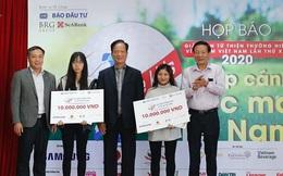 """Giải golf từ thiện """"Vì trẻ em Việt Nam"""" trao học bổng toàn phần cho 2 nữ sinh"""
