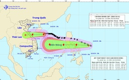 Bão chồng bão hướng vào miền Trung