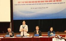 Nữ doanh nhân góp ý kiến về Kinh tế thị trường vào dự thảo văn kiện Đại hội XIII