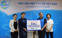 Hội LHPN Việt Nam tiếp nhận 20.000 USD hỗ trợ khắc phục hậu quả lũ lụt từ Văn phòng KOICA Việt Nam