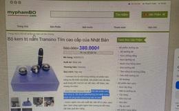 Website myphambo.com bán mỹ phẩm Transino giả