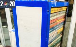 Độc đáo hộp đựng sách từ… thùng sữa