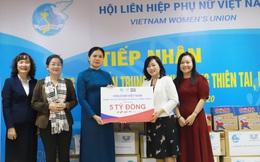 Hội LHPN Việt Nam tiếp nhận 5 tỷ đồng hỗ trợ khắc phục hậu quả bão lụt từ Unilever Việt Nam