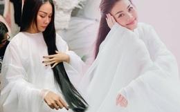 Mới làm Thái hậu, Thanh Hằng lại diện đồ cổ trang hóa Tiểu Long Nữ với mái tóc 1 mét