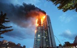 Hàn Quốc: Tòa nhà 33 tầng cháy suốt đêm, 88 người nhập viện