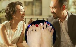 """Thu Trang """"làm đỏm"""" đeo nhẫn xuống chân"""