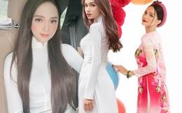 Trở lại hậu scandal, Hương Giang chỉ áo dài trắng vẫn đẹp tựa nữ thần