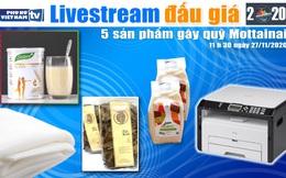 11h30 ngày 27/11: Livestream đấu giá 5 sản phẩm gây quỹ Mottainai 2020