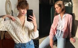 Học phụ nữ Pháp 3 cách diện áo cardigan mỏng tuyệt đẹp