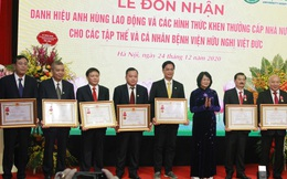 Nhiều tập thể, cá nhân của BV Việt Đức được trao tặng danh hiệu cấp Nhà nước
