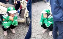 Xôn xao clip nữ tài xế Grab khóc nức nở vì bị khách lấy mất điện thoại