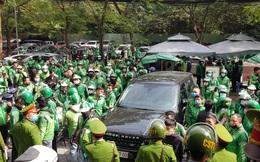 Hàng ngàn tài xế tiếp tục phản đối Grab, nhiều công an được huy động