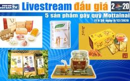 11h30 ngày 9/12: Livestream đấu giá 5 sản phẩm gây quỹ Mottainai 2020