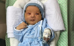 Em bé bị mẹ bỏ rơi ở hố ga: Mắt và tai không bị tổn thương nghiêm trọng
