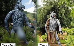 """Sau khi bị """"ném đá"""", khu vui chơi ở Đà Lạt đã """"mặc quần"""" cho những bức tượng phản cảm"""