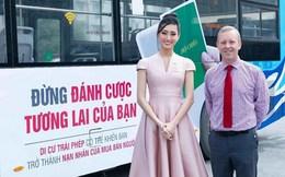 2 Hoa hậu tham gia tuyên truyền công tác phòng chống mua bán người