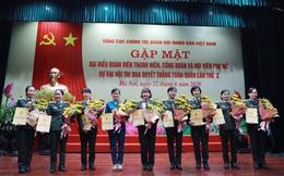 Bộ Quốc phòng: Số cán bộ nữ giữ chức vụ chỉ huy so với tổng số cán bộ nữ hiện đang công tác là 31,86%