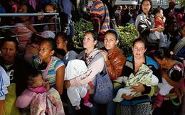 Cảnh khốn cùng của phụ nữ, trẻ tị nạn Venezuela